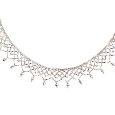 Thai Handcrafted Sterling Silver Choker Necklace