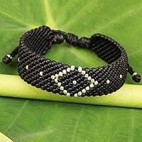 Silver accented braided bracelet,