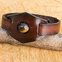 Featured review for Tigers eye and leather band band bracelet, Earthy Essence
