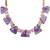 Amethyst and tourmaline long necklace, 'Lavender Bouquet' - Thai Amethyst Tourmaline and 18k Gold Plated Silver Necklace (image 2c) thumbail
