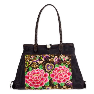 Artisan Crafted Embroidered Floral Shoulder Bag