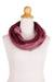 Cotton infinity scarf, 'Burgundy Horizon' - Hand Woven 100% Cotton Infinity Scarf from Thailand (image 2b) thumbail