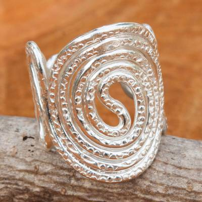 cheap ring display cases - Hand Stamped Hand Crafted Hill Tribe Silver Band Ring