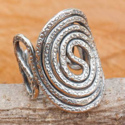 ebay brighton heart rings - Hand Crafted Hill Tribe Silver Hand Stamped Band Ring