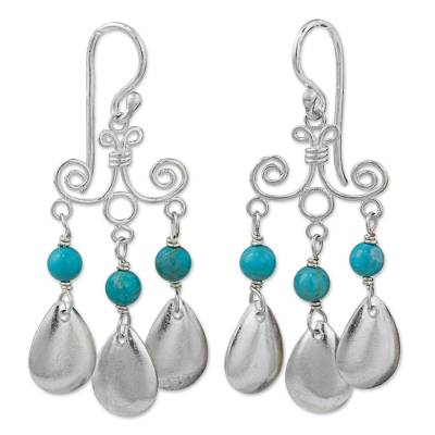 Sterling Silver Calcite Chandelier Earrings from Thailand