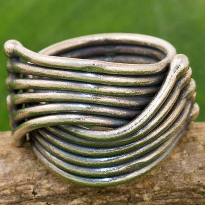 Hand Made Karen Sterling Silver Ring from Thailand
