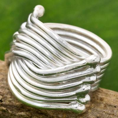 Fantasy jewelry - High Polish Karen Sterling Silver Ring Thailand