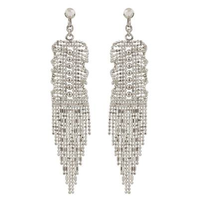 Thai Handcrafted Sterling Silver Waterfall Earrings