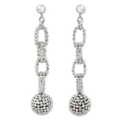 Sterling Silver Chain Link Dangle Earrings from Thailand