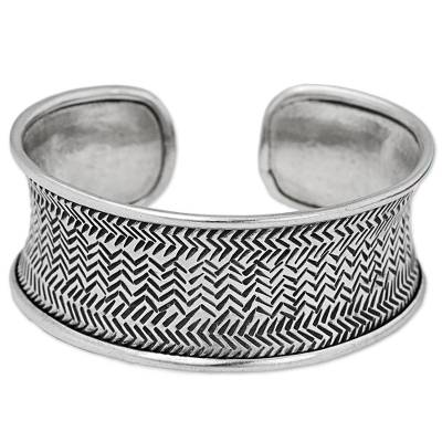 Thai Hill Tribe Hand Stamped Handcrafted Silver 950 Bracelet