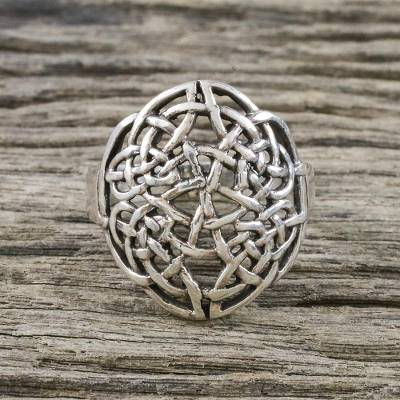 ladies titanium rings - Sterling Silver Openwork Cocktail Ring from Thailand