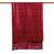 Silk scarf, 'Shimmering Crimson' - Hand Woven Fringed Silk Scarf in Crimson from Thailand (image 2d) thumbail