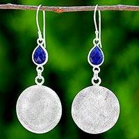 Lapis lazuli dangle earrings,