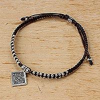 Silver pendant bracelet Silver Snowflake (Thailand)