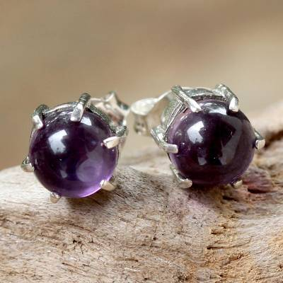 Amethyst stud earrings, To the Point