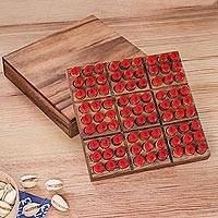 Wood game, 'Sudoku' - Hand Made Wood Sudoku Puzzle Game from Thailand