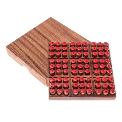 Hand Made Wood Sudoku Puzzle Game from Thailand