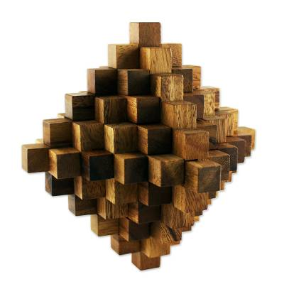 Rain Tree Wood Interlocking Puzzle from Thailand