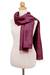 Silk scarf, 'Otherworldly in Magenta' - Hand Woven Fringed Silk Scarf in Magenta from Thailand (image 2c) thumbail