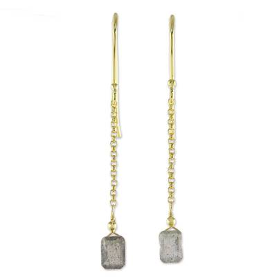 Labradorite Dangle Earrings from Thailand