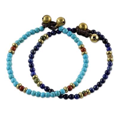 Two Jasper and Unakite Multi-Gem Beaded Bracelets