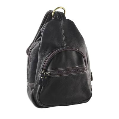 Handcrafted Leather Backpack in Espresso from Thailand
