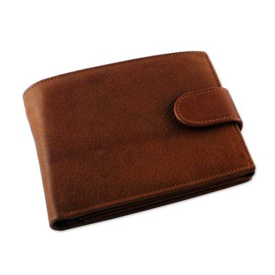 Handcrafted Leather Wallet in Nutmeg from Thailand