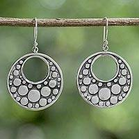 Sterling silver dangle earrings, 'Happy Bubbles' (Thailand)