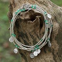 Onyx wrap bracelet,