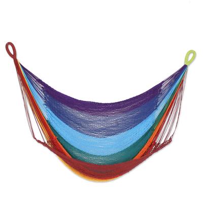 Handmade Cotton Rope Single Hammock Swing