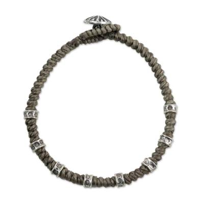 Braided Wristband Bracelet with Karen Silver from Thailand