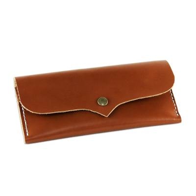 Handcrafted Leather Wallet in Chestnut from Thailand