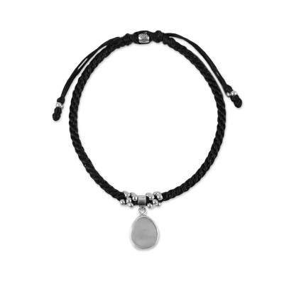 Sterling Silver Adjustable Cord Charm Bracelet from Thailand