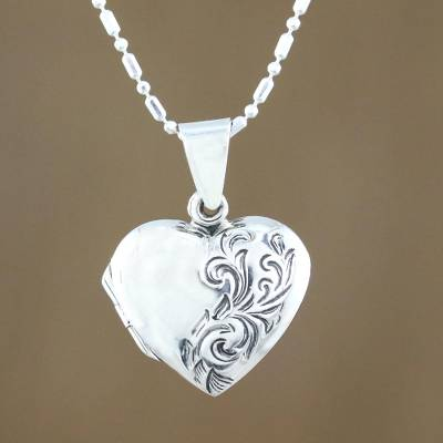 Sterling silver locket necklace, Enduring Love
