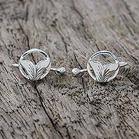 Sterling silver ear cuffs, 'Ocean Tails' - Sterling Silver Whale-Themed Ear Cuffs from Thailand