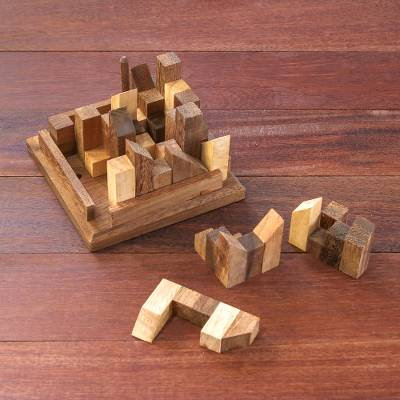 Wood puzzle, Happy City