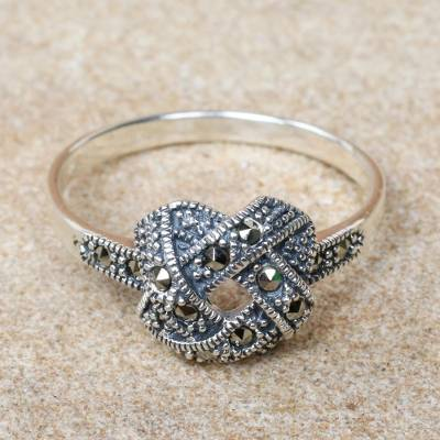 Fair Trade Marcasite Cocktail Ring from Thailand