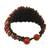 Jasper wristband bracelet, 'Lively Humor' - Jasper and Brass Adjustable Wristband Bracelet from Thailand (image 2d) thumbail
