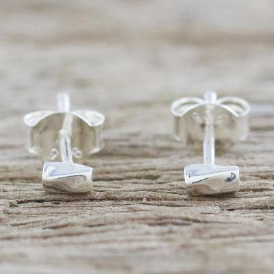 Sterling silver stud earrings, Silver Sparkle