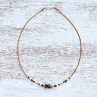 Multi-gemstone beaded necklace, 'Magic Spring' - Multi-Gemstone and Silver Beaded Necklace from Thailand