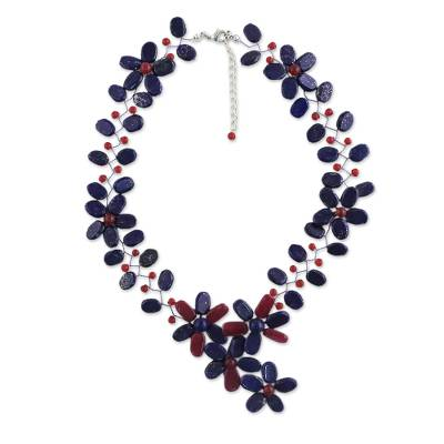 Adjustable Floral Statement Necklace from Thailand