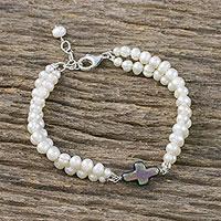 Cultured pearl pendant bracelet, 'Divine Adoration' (Thailand)
