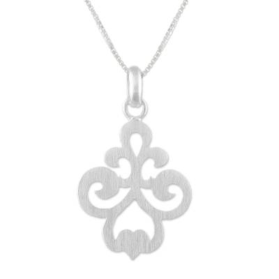 Sterling silver pendant necklace, 'Delicate Soul' - Elegant Sterling Silver Pendant Necklace from Thailand