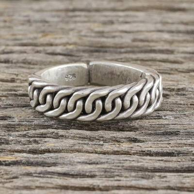 Handcrafted Thai Hill Tribe Sterling Silver Wrap Ring