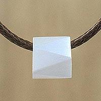 Men's sterling silver pendant necklace, 'Geometric Charm' - Men's Sterling Silver Pendant Necklace from Thailand