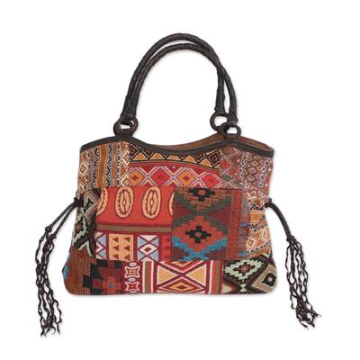 Artisan Crafted Multicolored Patchwork Shoulder Bag