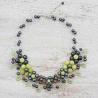 Multi-gemstone beaded necklace, 'Sea Foam Bubbles' - Colorful Multi-Gemstone Beaded Necklace from Thailand