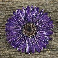 Natural flower brooch,