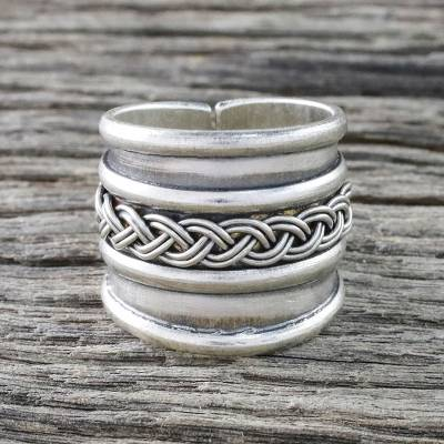 Handcrafted Sterling Silver Wrap Ring from Thailand