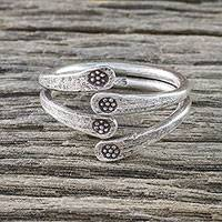 Sterling silver wrap ring, 'Hold Fast' - Sterling Silver Wrap Ring from Thailand